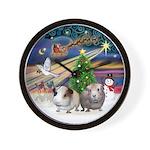 XmasMagic-2 Guinea Pigs Wall Clock