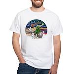 XmasMagic-2 Guinea Pigs White T-Shirt