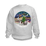 XmasMagic-2 Guinea Pigs Kids Sweatshirt