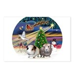 XmasMagic-2 Guinea Pigs Postcards (Package of 8)