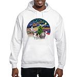 XmasMagic-2 Guinea Pigs Hooded Sweatshirt