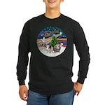 XmasMagic-2 Guinea Pigs Long Sleeve Dark T-Shirt