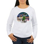 XmasMagic-2 Guinea Pigs Women's Long Sleeve T-Shir