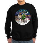 XmasMagic-2 Guinea Pigs Sweatshirt (dark)