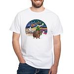 XmasMagic-GuineaPig 3 White T-Shirt