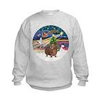 XmasMagic-GuineaPig 3 Kids Sweatshirt