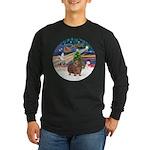 XmasMagic-GuineaPig 3 Long Sleeve Dark T-Shirt