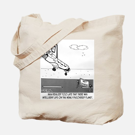 Wet Cement In Space Tote Bag