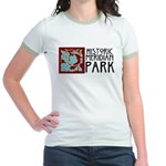Historic Meridian Park Fitted Ringer T-Shirt