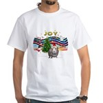 XmasMusic1-GuineaPig2 (h) White T-Shirt