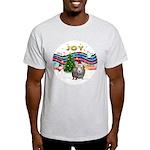 XmasMusic1-GuineaPig2 (h) Light T-Shirt