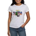 XmasMusic1-GuineaPig2 (h) Women's T-Shirt