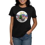 XmasMusic1-GuineaPig2 (h) Women's Dark T-Shirt