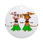 Sola and Luna - Hula Cows! Ornament (Round)