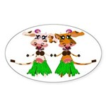 Sola and Luna - Hula Cows! Sticker (Oval)