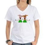 Sola and Luna - Hula Cows! Women's V-Neck T-Shirt