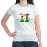 Sola and Luna - Hula Cows! Jr. Ringer T-Shirt