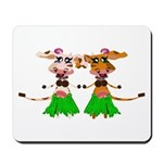 Sola and Luna - Hula Cows! Mousepad