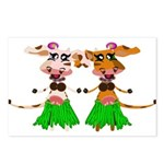 Sola and Luna - Hula Cows! Postcards (Package of 8