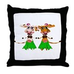 Sola and Luna - Hula Cows! Throw Pillow