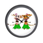 Sola and Luna - Hula Cows! Wall Clock