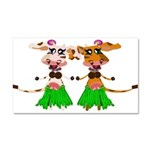 Sola and Luna - Hula Cows! Car Magnet 20 x 12