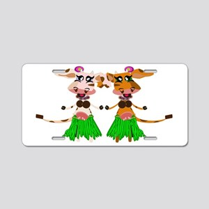 Sola and Luna - Hula Cows! Aluminum License Plate