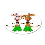 Sola and Luna - Hula Cows! 38.5 x 24.5 Oval Wall P