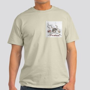 Pirates Bad Sea Men Ash Grey T-Shirt