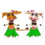 Luna and Sola - Hula Moo! Postcards (Package of 8)