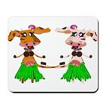 Luna and Sola - Hula Moo! Mousepad