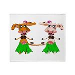 Luna and Sola - Hula Moo! Throw Blanket