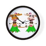 Luna and Sola - Hula Moo! Wall Clock