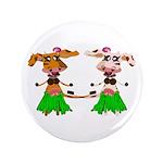 "Luna and Sola - Hula Moo! 3.5"" Button"