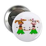 "Luna and Sola - Hula Moo! 2.25"" Button"