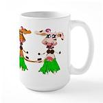 Luna and Sola - Hula Moo! Large Mug