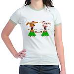 Luna and Sola - Hula Moo! Jr. Ringer T-Shirt