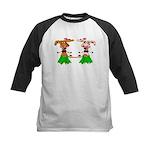 Luna and Sola - Hula Moo! Kids Baseball Jersey