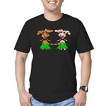 Luna and Sola - Hula Moo! Men's Fitted T-Shirt (da