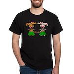Luna and Sola - Hula Moo! Dark T-Shirt
