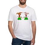 Luna and Sola - Hula Moo! Fitted T-Shirt