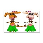 Luna and Sola - Hula Moo! Car Magnet 20 x 12