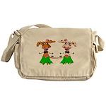 Luna and Sola - Hula Moo! Messenger Bag