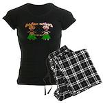 Luna and Sola - Hula Moo! Women's Dark Pajamas