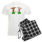 Luna and Sola - Hula Moo! Men's Light Pajamas