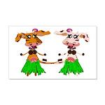 Luna and Sola - Hula Moo! 22x14 Wall Peel