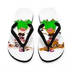 Luna and Sola - Hula Moo! Flip Flops