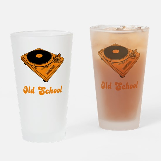 Old School Turntable Drinking Glass