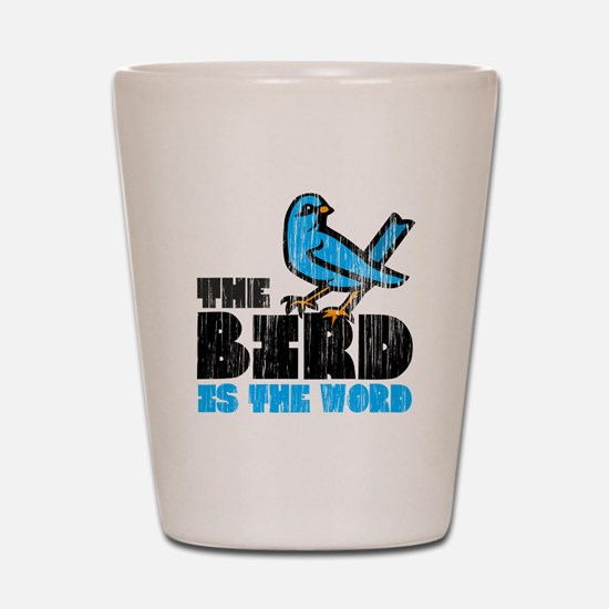 The Bird is the Word Shot Glass
