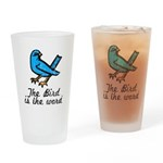 Bird is the Word Drinking Glass